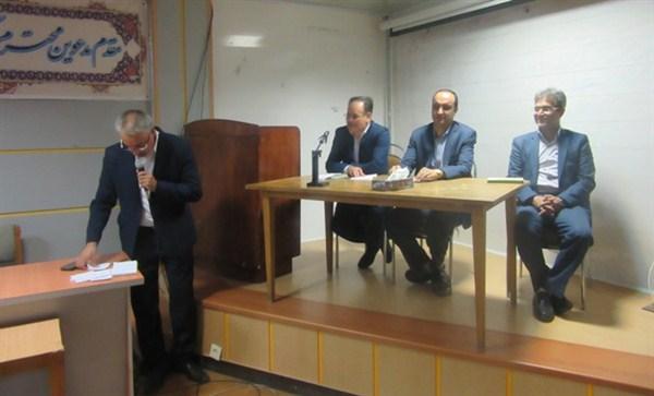 N97666B برگزاری جلسه عمومی در مرکز تحقیقات و همچنين آموزش گلستان با حضور دکتر گل محمدی