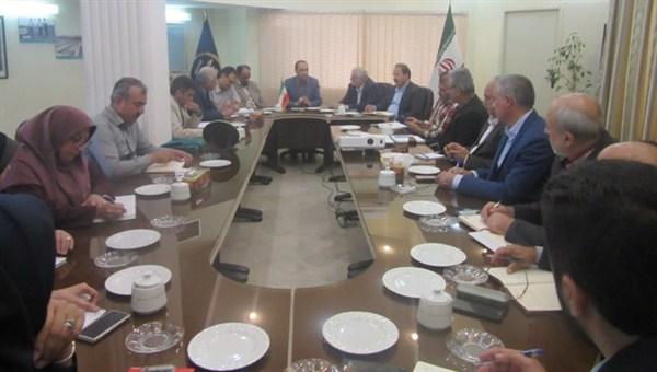 N977155A نشست هم اندیشی رییس کمیسیون کشاورزی اتاق ایران و همچنين رییس اتاق بازرگانی استان گلستان با مدیران مرکز تحقیقات و همچنين آموزش گلستان