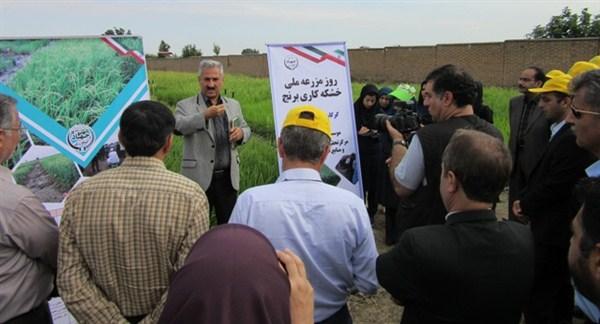 N9806133B برگزاری روز ملی مزرعه خشکه کاری برنجدر مرکز تحقیقات و همچنين آموزش کشاورری و همچنين منابع طبیعی استان گلستان
