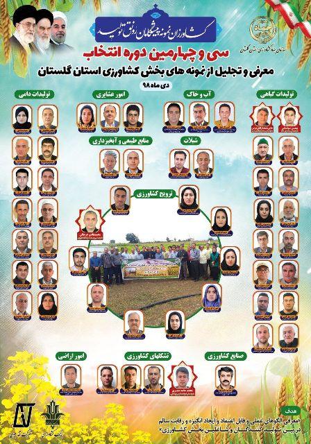 N9810292C برگزاری مراسم تجلیل از ۵۶ نمونه قسمت و بخش کشاورزی در استان گلستان