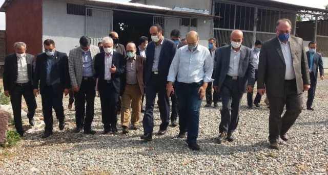 N9905141B سفر دکتر بازرگان دست يار وزیر جهاد کشاورزی به استان گلستان