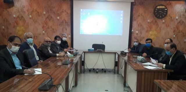 N9912271A برگزاری آخرین جلسه شورای اداری مرکز تحقیقات و همچنين آموزش گلستان در سال شمسي۱۳۹۹