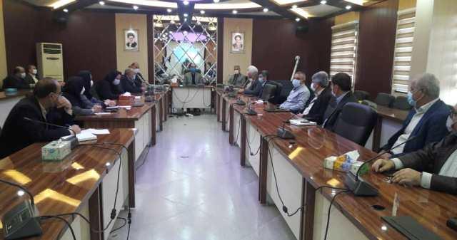 N9912271G برگزاری آخرین جلسه شورای اداری مرکز تحقیقات و همچنين آموزش گلستان در سال شمسي۱۳۹۹