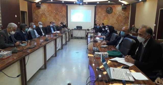 N9912271H برگزاری آخرین جلسه شورای اداری مرکز تحقیقات و همچنين آموزش گلستان در سال شمسي۱۳۹۹